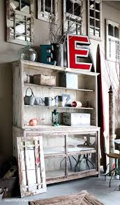 Beautiful rustic cabinet with hutch. Shift Ctrl ART - Decorate, Craft, DIY,