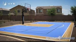 home basketball court design. Home Backyard Half Court Basketball Design Blue And Gold B