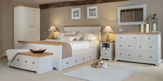 Exceptional White Painted Bedroom Furniture With Oak Tops