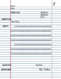 Friendly Letter Format Friendly Letter Format Template By The Teacher Around The Corner