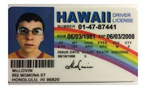 Hawaii Movie Games Amazon License Superbad amp; Reproduction Prop - Mclovin Drivers com Novelty Toys