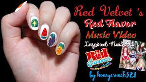 Red Velvet - Red Flavor MV Inspired Nail Art | 레드벨벳-빨간 맛 ...