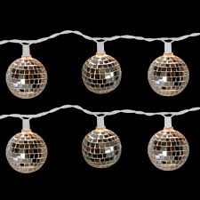 brite star 10 light disco ball clear light set set of 2 96 612 20 the home depot