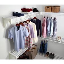 steel closet kit with 5 expandable shelf and rod units in white with 4 end brackets