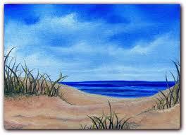 original seascape oil painting sandy beach ocean painting coastal art beach landscape painting canvas painting 5 x 7