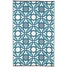 fab habitat indoor outdoor recycled plastic rug blue 8x10