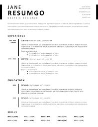 Timo Simple Stylish Resume Template Resumgocom