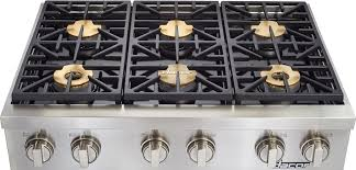36 inch gas cooktop with downdraft. Unique Inch Dacor DYRTP366SLPH 36 Inch Gas Rangetop With 6 Sealed Burners 18000 BTU  SmartFlame Technology Illumina Burner Controls PermaFlame Technology And  Intended Cooktop With Downdraft T