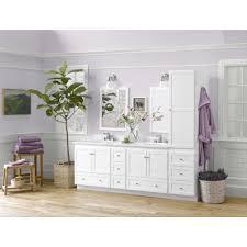 Vanity Bathroom Set Ronbow Shaker 72 Inch Bathroom Vanity Set In White 72 White