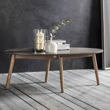 cult living brooklyn modern oval coffee table concrete