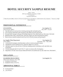 Security Sample Resume Best Of R Spectacular Security Guard Resume Sample No Experience Sample