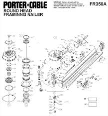 porter cable fr350a round head framing nailer partachi nail gun parts diagram nail gun parts diagram