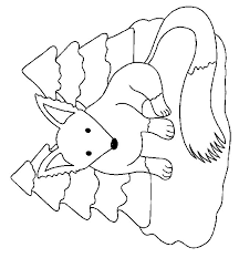 Small Picture Coloring Page Fox animals coloring pages 8