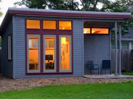 Build an office Garage Evening Shed Small0982 Farmers Almanac Build Backyard Office Shed Farmers Almanac