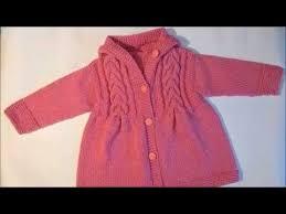 Детский <b>жакет</b> спицами.Пальто с косами для <b>девочки</b>.Ч.1.Как ...