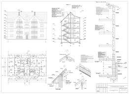 Курсовые и дипломные проекты коттеджи дачи скачать котедж в dwg  Курсовой проект 3 х этажный жилой дом по ул Еловая аллея г