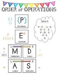 Order Of Operations Anchor Chart Order Of Operations Anchor Chart Pemdas