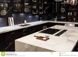 Kitchen marble top Grey Bespoke High Quality Kitchen With Large Marble Counter Top Wayfair Luxury Marble Top Kitchen Stock Photo Image Of Furnished 62537758
