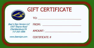 Gift Certificate Sign Baers Sign Service Store Baers Sign Service Provides Lighted