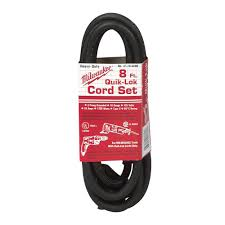 milwaukee 8 ft quik lok cord 3 wire cord 48 76 4008 the home depot quik lok cord 3 wire cord