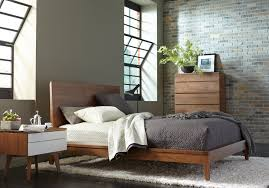 Solid Walnut Bedroom Furniture Serra Collection Solid Walnut Finish Shown Toast Available With