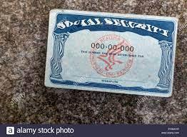 USA Social Security Card auf die ...