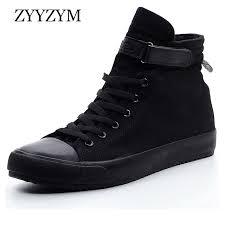 <b>ZYYZYM Men</b> Canvas <b>Shoes</b> Fashion high Top <b>Sneakers</b> Spring ...