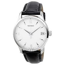 mens tag watches valentine s day s on mens movado watches movado circa white dial leather mens watch 0606569