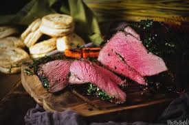 herb rubbed top round roast beef recipe