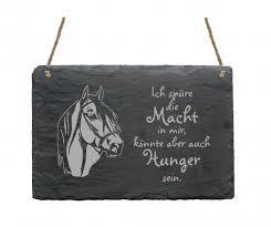 Schiefertafel Pferd Ich Spüre Die Macht In Mir Lustige Sprüche