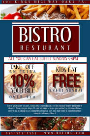 Resturant Flyer Coupon Template Postermywall