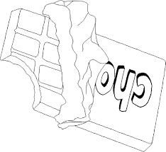 Coloriage Tablette De Chocolat Dessin Imprimer Sur Coloriages Info