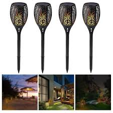 outdoor torch lighting. Solar Garden Torch Light, Waterproof Flickering Flames Torches Lights Outdoor Landscape Decoration Lighting Dusk To I