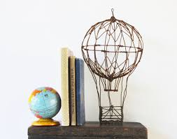 Up, Up and Away - Vintage Handmade Hot Air Balloon - Home Decor - Wire -  Travel - Industrial