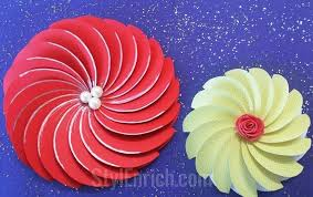 Chart Paper Flowers Step By Step Chart