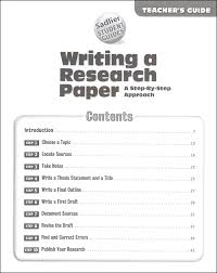 writing a research paper a step by step approach teacher s guide   writing a research paper a step by step approach teacher s guide additional