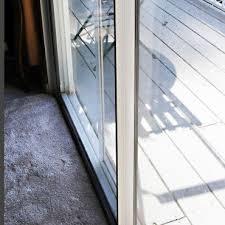 sliding glass door draft stopper good curtains for sliding glass door