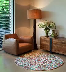 shining 5 ft round rug mandala fl area rugs cool