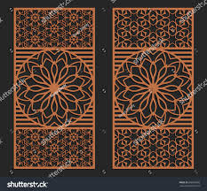 laser cutting set wall or window panels jigsaw die cut ornaments lacy cutout on die cut metal wall art with laser cutting set wall window panels stock vector 698360089