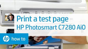 This driver works for the following printers: Printing A Test Page Hp Photosmart C7280 All In One Printer Hp Youtube