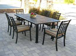 wood patio dining table 7 piece patio dining set patio furniture table and chairs round wooden