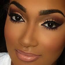best 25 black bridal makeup ideas on pinterest lipstick for Wedding Hair And Makeup For Black Women instagram post by aka strutn' face (@beautymarkedbyjoelle) black bridal makeupmakeup