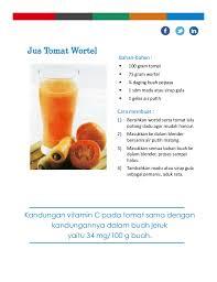 Lihat juga resep jus wortel mix buah. Resep Jus Tomat Campur Wortel