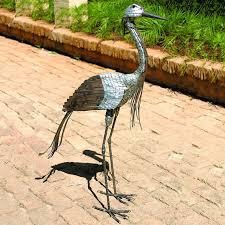 captivating crane garden sculpture