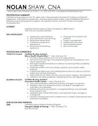 Resume Examples For Nursing Enchanting Cna Resume Examples Resume Example Certified Nursing Assistant
