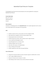 Basketball Coach Resume Www Docstoc Com Docslate Examples Yun56 Co