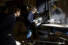 really neat shot of behind the scenes of film the dark knight really neat shot of behind the scenes of film the dark knight nolan and the