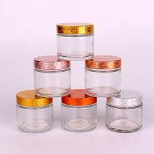 china hot round glass jar with customized colored lid china glass jar clear glass jar with lid