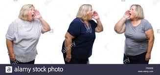 Screaming very loud fat women