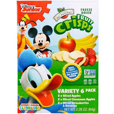 Brothers-All-Natural, <b>Fruit</b>-<b>Crisps</b>, <b>Disney Junior</b>, Variety Pack, 6 ...